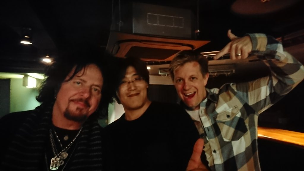 Steve Lukather & Jeff Babko & me