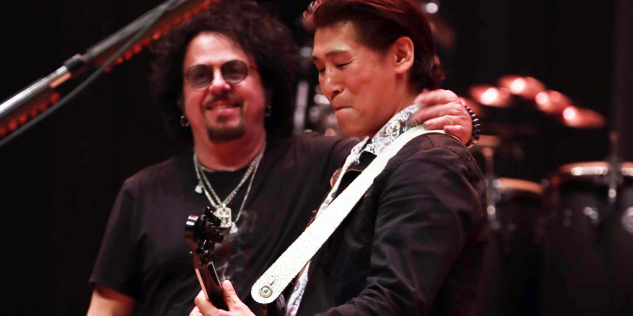 Steve Lukather (TOTO) with me -Jun Nakauchi