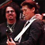 Steve Lukather (TOTO) with me -Jun Nakauchi