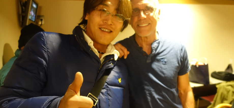 With Larry Carlton