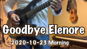 Goodbye Elenore / TOTO / Cover 2020-10-23 Morning training