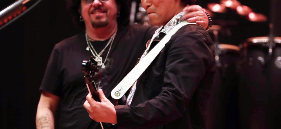with Steve Lukather