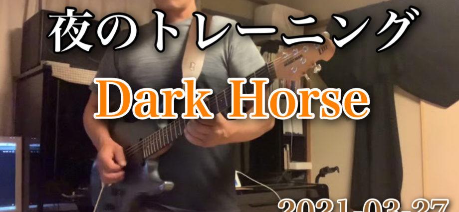 Dark Horse 夜のトレーニング! 連続練習中!|2021-03-27|https://youtu.be/3tofV5h_-Aw