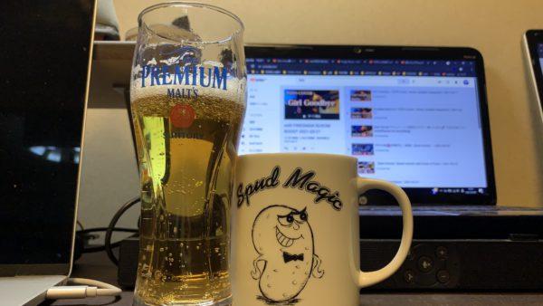 去る日曜日の夜。お疲れさまコーラ&ビール