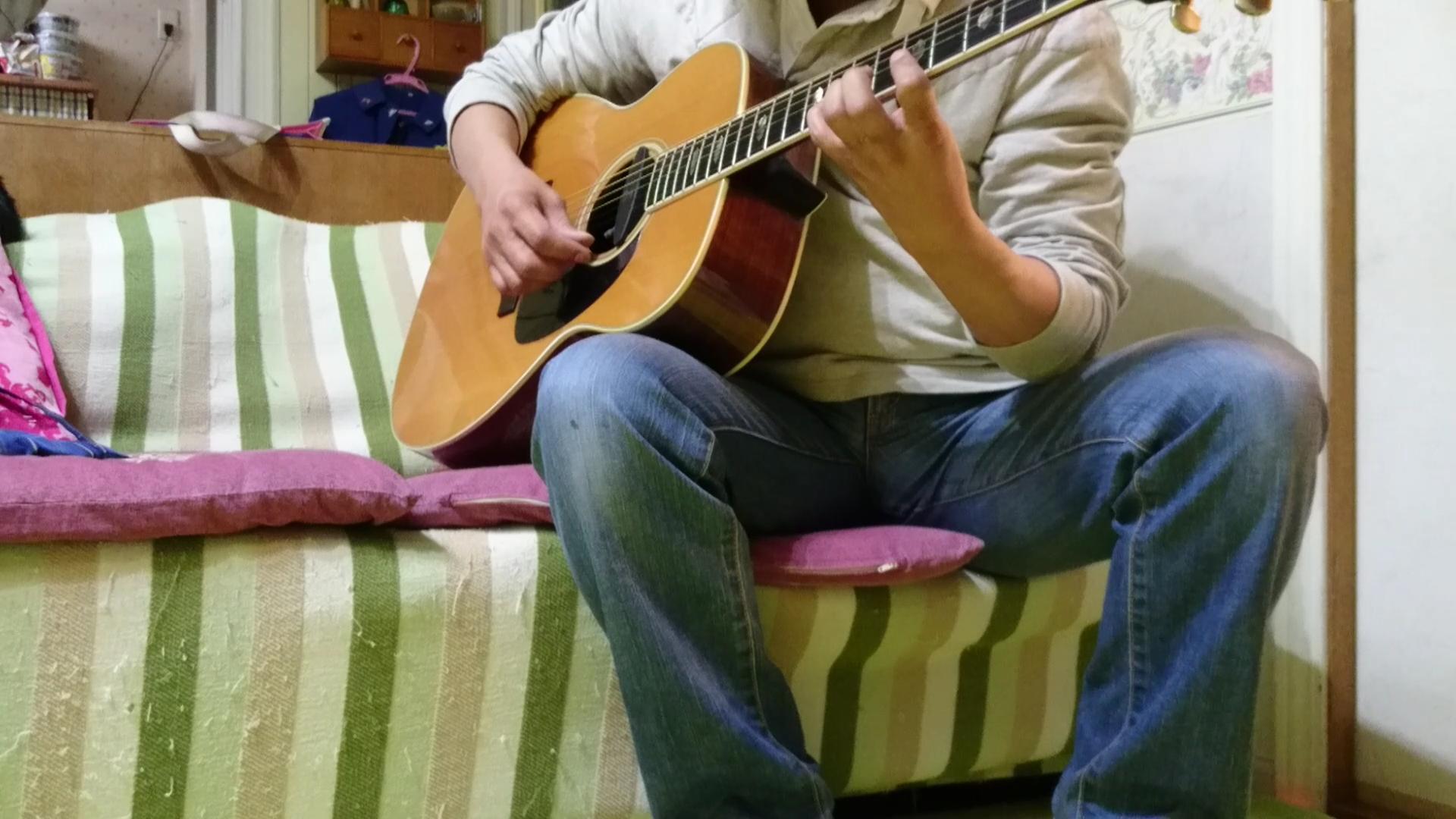 ギターを変えて弾いてみました♪ハナミズキ♪