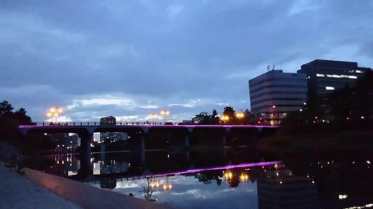 BGV的なやつ。乙川の夕暮れ。動画。